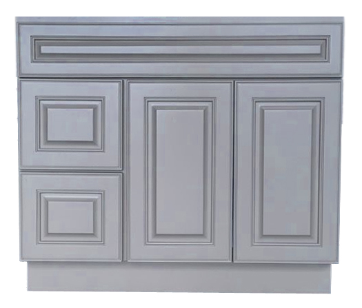 "Class Gray 36"" vanity with left side drawers"