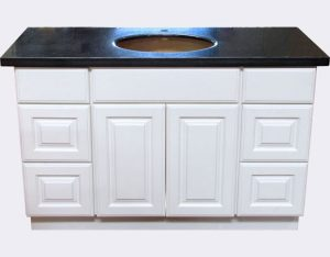 "Alpine White 48"" Vanity with side drawers"