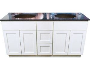 "Arctic Shaker White 60"" double sink vanity"